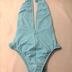 Anne Cole Blue One-Piece Swimsuit, Size 12